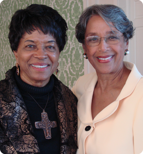 Reatha Clark King and Wenda Weekes Moore