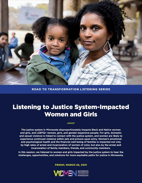 Justice system report cover